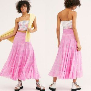 Free People NWT Stuck in a Moment Boho Maxi Skirt